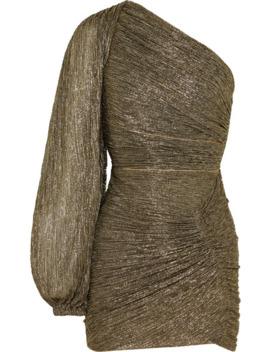 One Sleeve Plissé Jersey Mini Dress by Peter Pilotto
