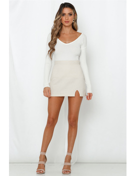 Even Up The Score Knit Top White by Hello Molly