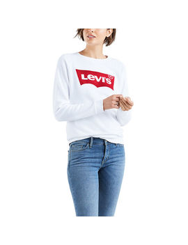 Levi's Women's Long Sleeve Graphic Crewneck Fleece by Eastern Mountain Sports