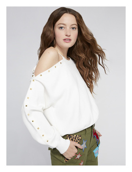 Michael Studded Cut Out Top by Alice And Olivia