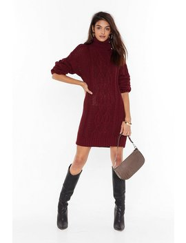 Asking For Knit Turtleneck Sweater Dress by Nasty Gal