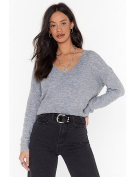 Now You V It Knitted V Neck Jumper by Nasty Gal