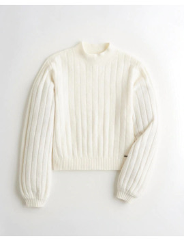 Ribbed Mockneck Sweater by Hollister