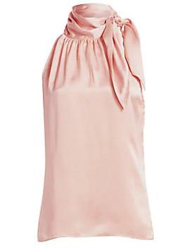 Tie Neck Silk Halter Blouse by Zimmermann