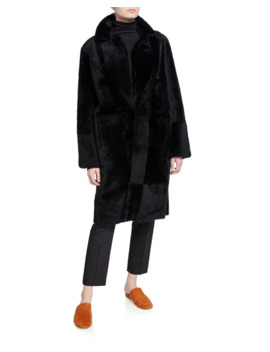 Shearling Long Coat by Vince