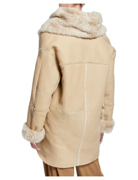 Shearling Cardi Coat by Vince