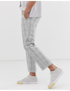 Noak   Pantalon Slim Habillé à Carreaux   Gris by Noak
