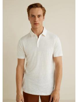 100% Linen Polo Shirt by Mango