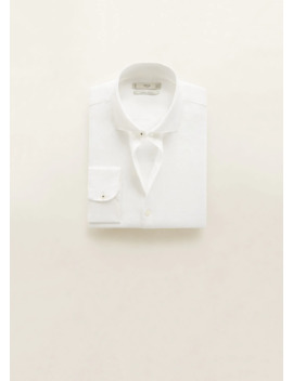 100% Linen Slim Fit Shirt by Mango