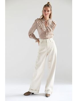 Bdg Lena Cuffed Wide Leg Puddle Jean by Bdg