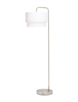 Double Shade Brushed Nickel Floor Lamp by Tj Maxx