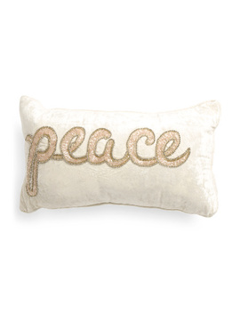 Made In India 12x20 Beaded Peace Pillow by Tj Maxx
