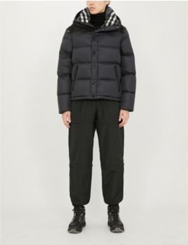 Padded Shell Down Hooded Puffer Jacket by Burberry