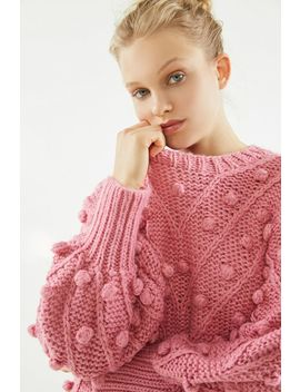 C/Meo Collective Trade Places Pom Knit Sweater by C/Meo Collective
