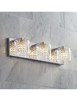 "Possini Euro Coco 20 1/2"" Wide Chrome 3 Light Bath Light by Lamps Plus"