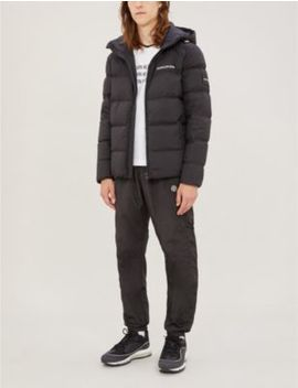 Hooded Shell Down Puffer Jacket by Ck Jeans