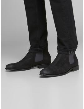 Suede Chelsea Boots Cutaway Collar Shirt  Slim Fit Suit Trousers  Suede Chelsea Boots by Jack & Jones
