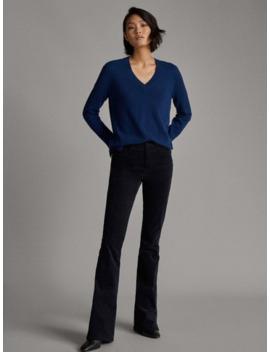 100% Cashmere V Neck Sweater by Massimo Dutti