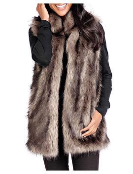 Limited Edition Faux Fur Vest   Inclusive Sizing by Fabulous Furs