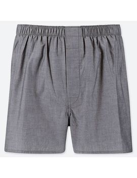 Men Woven Broad Trunks by Uniqlo