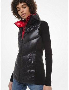Quilted Nylon Vest by Michael Michael Kors