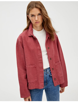 Denim Worker Jacket With Pockets by Pull & Bear