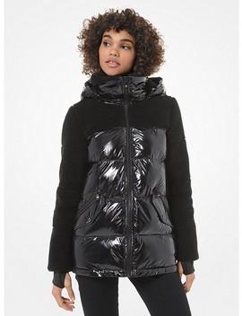 Sherpa Sleeve Puffer Jacket by Michael Michael Kors