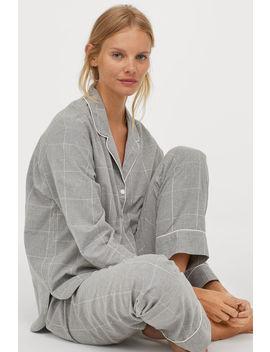 Bavlněné Flanelové Pyžamo by H&M