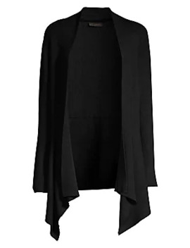 Asymmetric Open Front Cardigan by Donna Karan New York