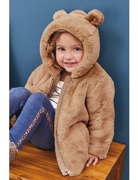 Caramel Faux Fur Jacket (12mths 7yrs) by Next