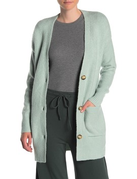 Long Sleeve Patch Pocket Cardigan by Elodie