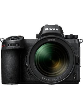 Z6 Mirrorless Camera With Nikkor Z 24 70mm Lens   Black by Nikon