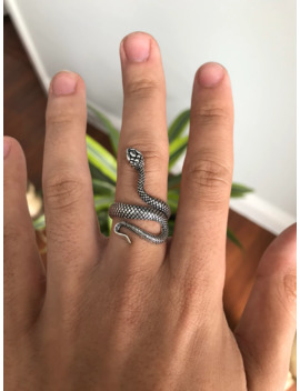 Silver Snake Ring by Vintage  ×  Jewelry  ×  Yordy  ×
