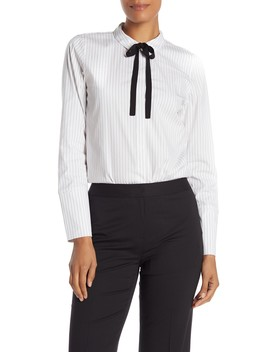 Annaliese Striped Blouse by Lafayette 148 New York