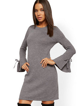 Tie Sleeve Sheath Sweater Dress by New York & Company