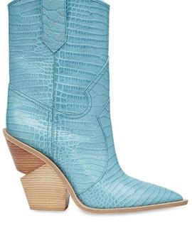 Cutwalk Cowboy Boots In Blue by Fendi