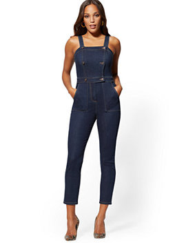 Denim Jumpsuit   Blue Hustle by New York & Company