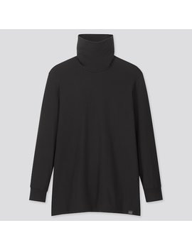 Men Heattech Extra Warm Turtleneck Long Sleeved T Shirt (1) by Uniqlo