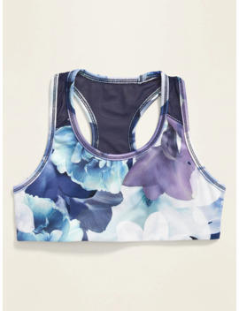 Go Dry Mesh Racerback Floral Sports Bra For Girls by Old Navy