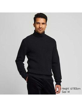 Men Middle Gauge Knit Turtleneck Jumper (1) by Uniqlo