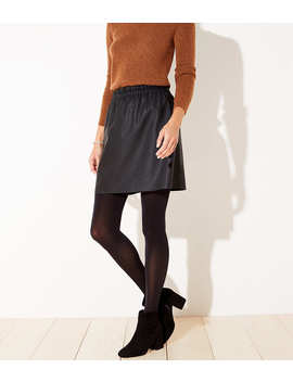 Faux Leather Pull On Skirt by Loft