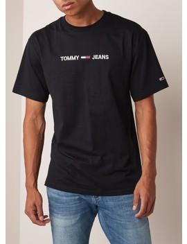 T Shirt Van Katoen Met Logoborduring by Tommy Hilfiger