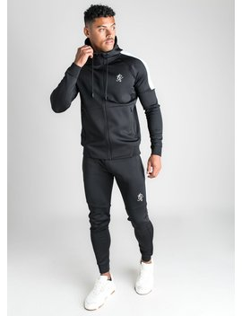 Gk Core Plus Poly Tracksuit Top   Black by The Gym King