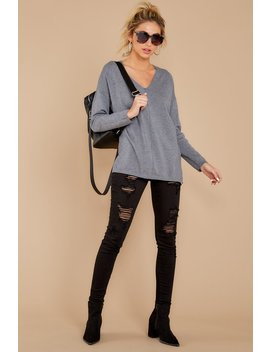 Give It A Rest Charcoal Grey Sweater by So Soft Collection