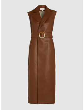 Belted Leather Longline Gilet by Materiel Tbilisi