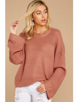 Cool Nights Ash Rose Sweater by Listicle