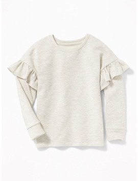 Relaxed Ruffle Trim Sweater For Girls by Old Navy