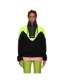 Black & Green Europa Fleece Jacket by Misbhv