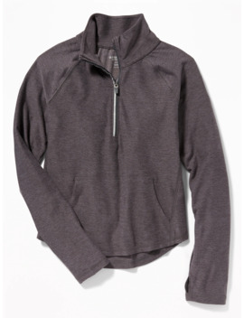 Go Dry 1/4 Zip Performance Pullover For Girls by Old Navy