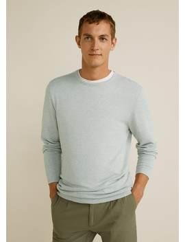 jersey-algodón-lino-estructura by mango